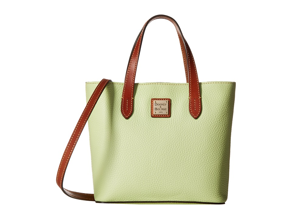 Dooney & Bourke - Pebble Mini Waverly (Key Lime w/ Tan Trim) Handbags