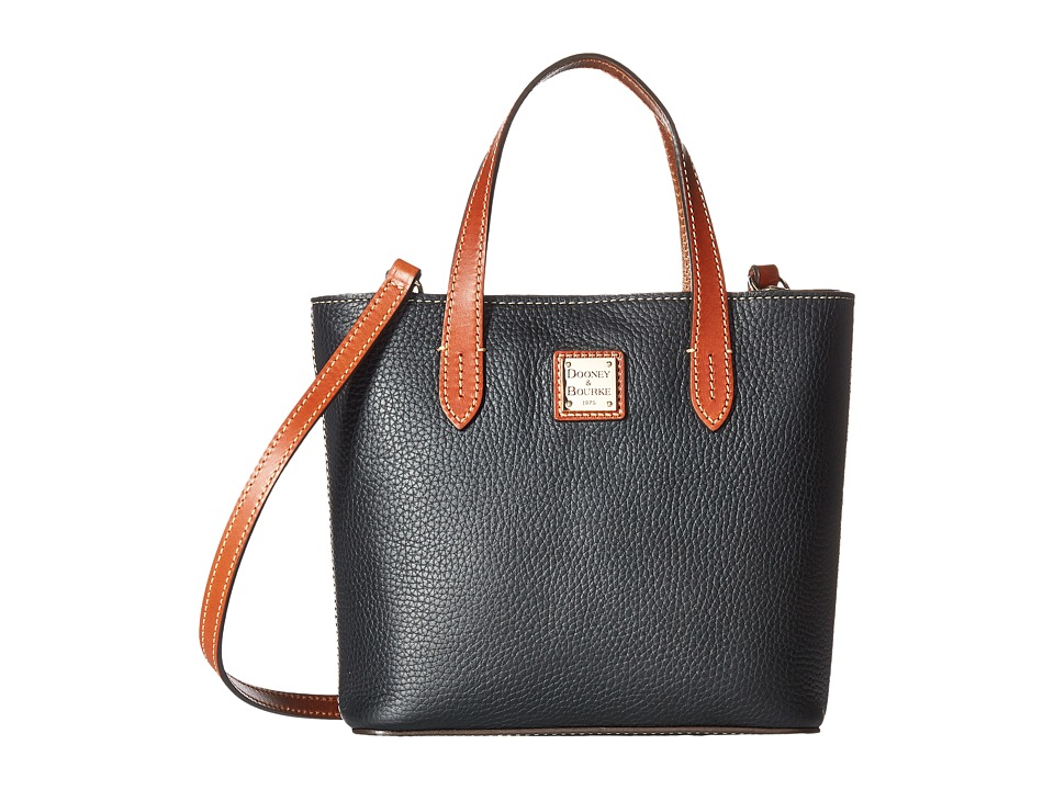 Dooney & Bourke - Pebble Mini Waverly (Black w/ Tan Trim) Handbags