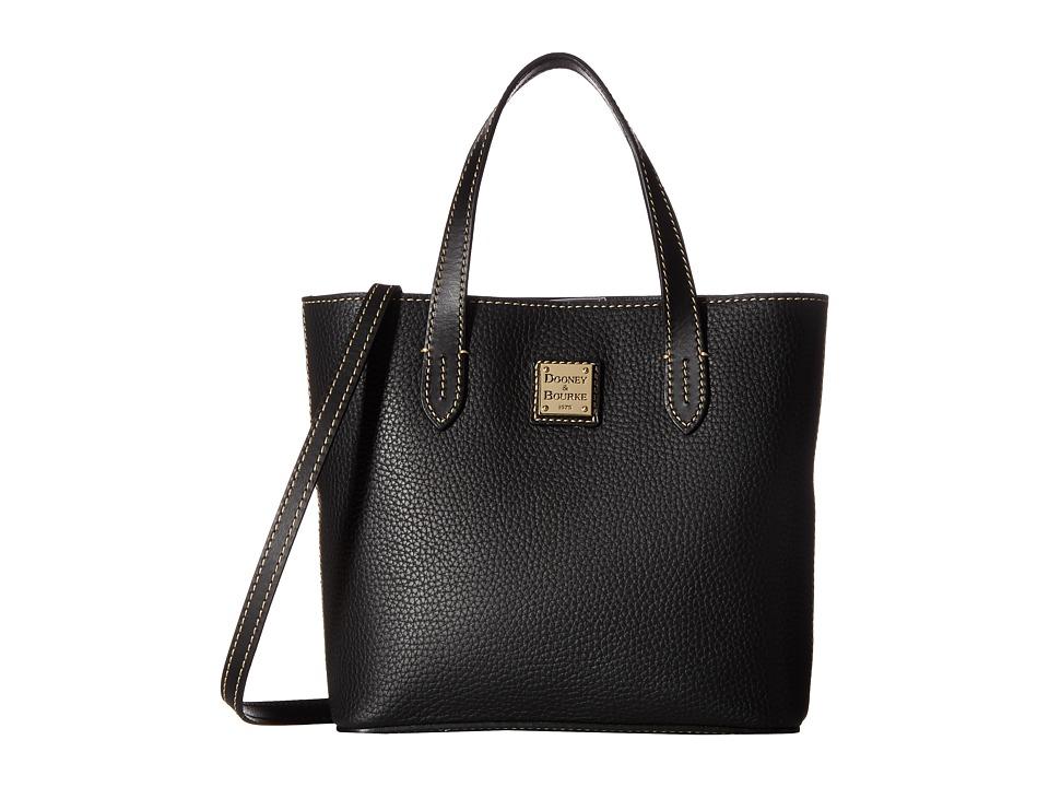 Dooney & Bourke - Pebble Mini Waverly (Black w/ Black Trim) Handbags