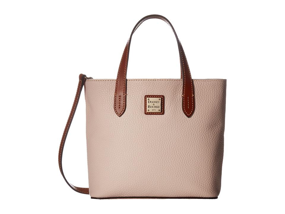 Dooney & Bourke - Pebble Mini Waverly (Blush w/ Tan Trim) Handbags