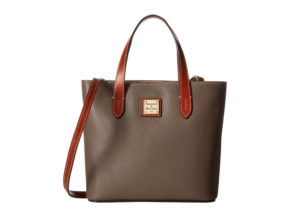 Dooney & Bourke - Pebble Mini Waverly (Elephant w/ Tan Trim) Handbags
