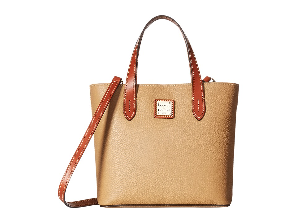 Dooney & Bourke - Pebble Mini Waverly (Desert w/ Tan Trim) Handbags