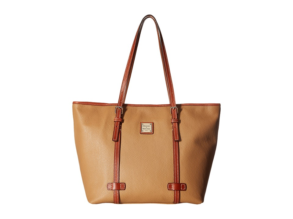 Dooney & Bourke - Pebble East/West Shopper (Desert w/ Tan Trim) Handbags