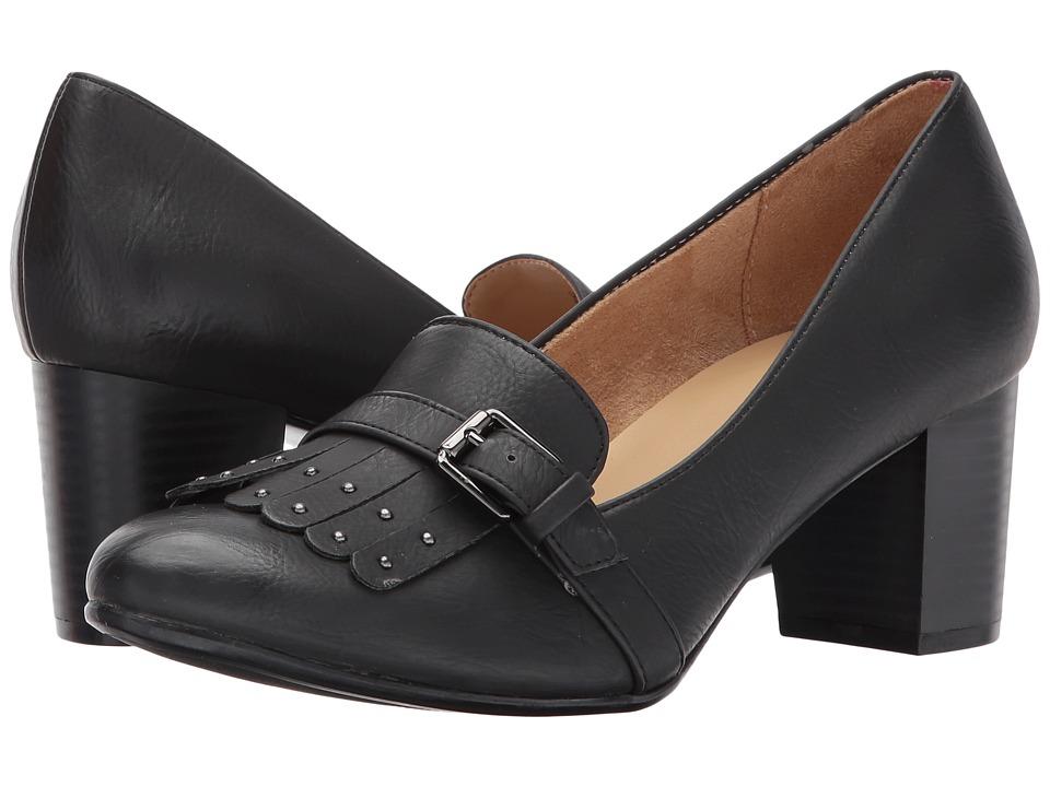 Naturalizer - Myrle (Jet Black Nubuck) Women's Shoes