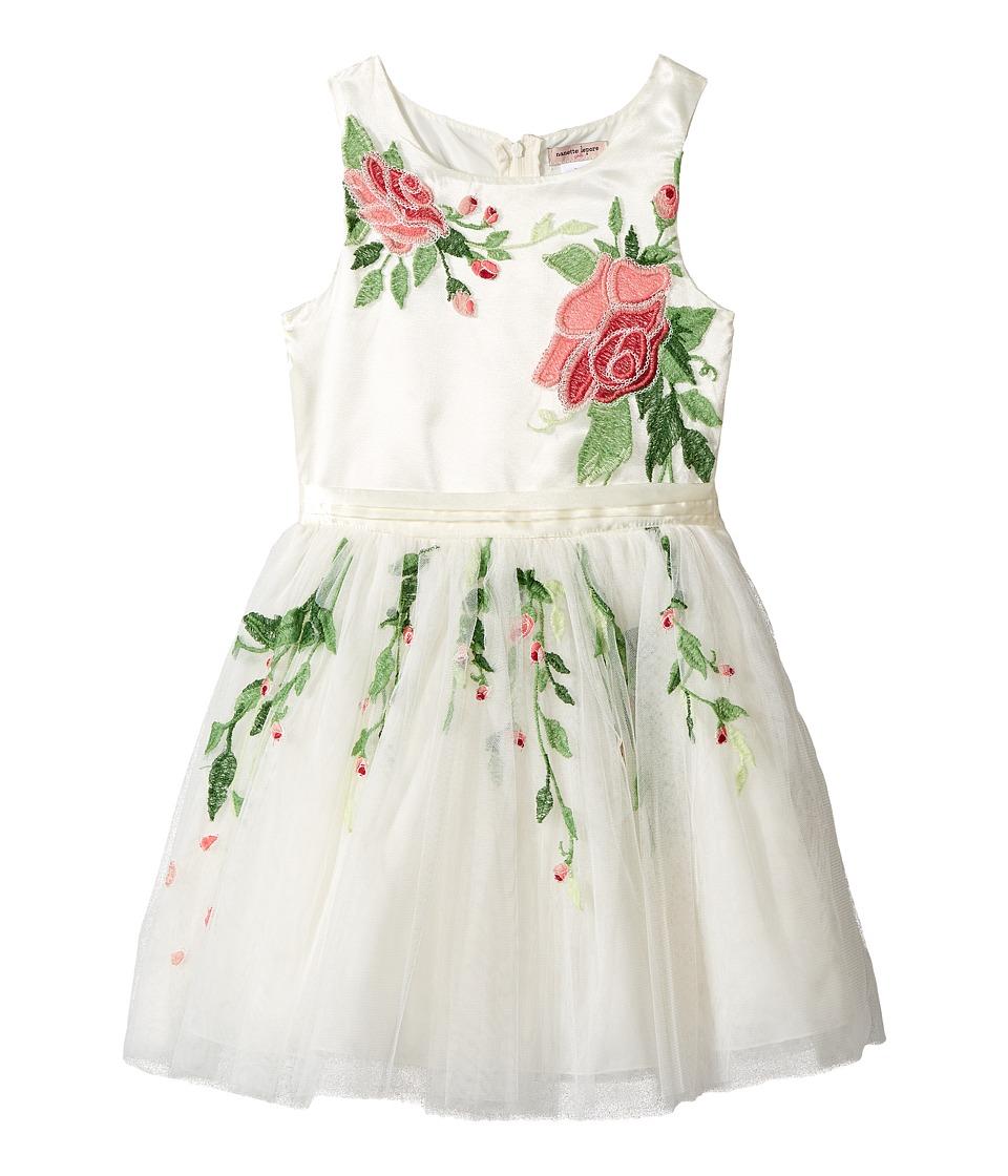 Nanette Lepore Kids - Embroidered Mesh Dress (Little Kids/Big Kids) (Off-White) Girl's Dress
