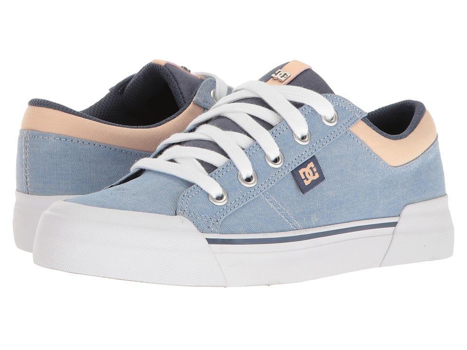 DC - Danni TX SE (Blue/White/Orange) Women's Skate Shoes