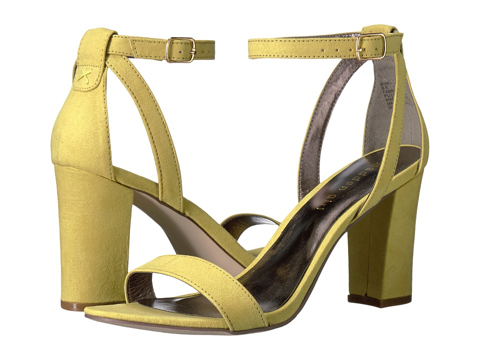 Madden Girl Binky (Yellow Fabric) High Heels