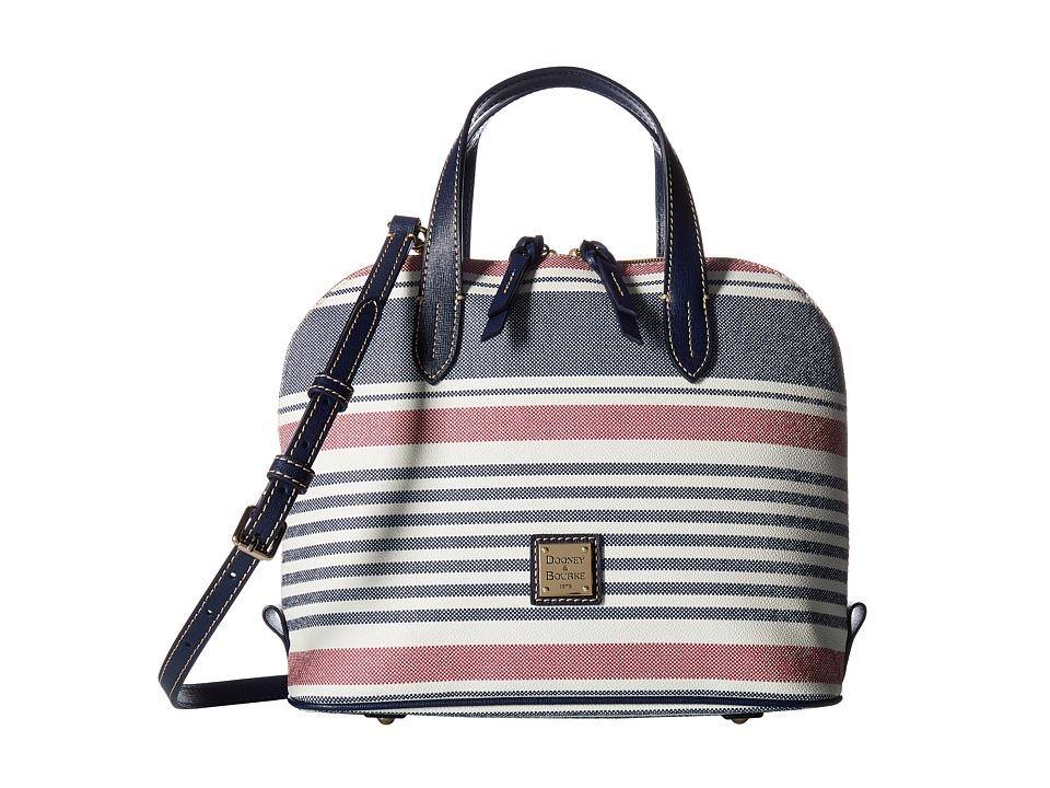 Dooney & Bourke - Westerley Zip Zip Satchel (Red/Navy w/ Marine Trim) Satchel Handbags