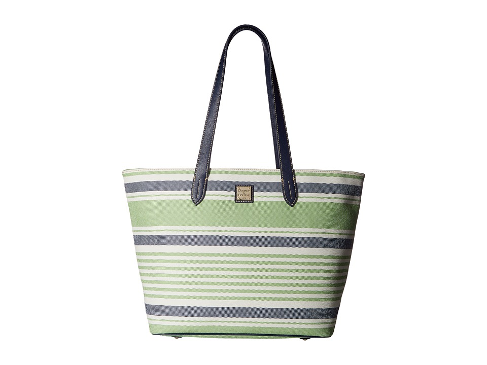 Dooney & Bourke - Westerly Large Zip Shopper (Green/Navy w/ Marine Trim) Handbags