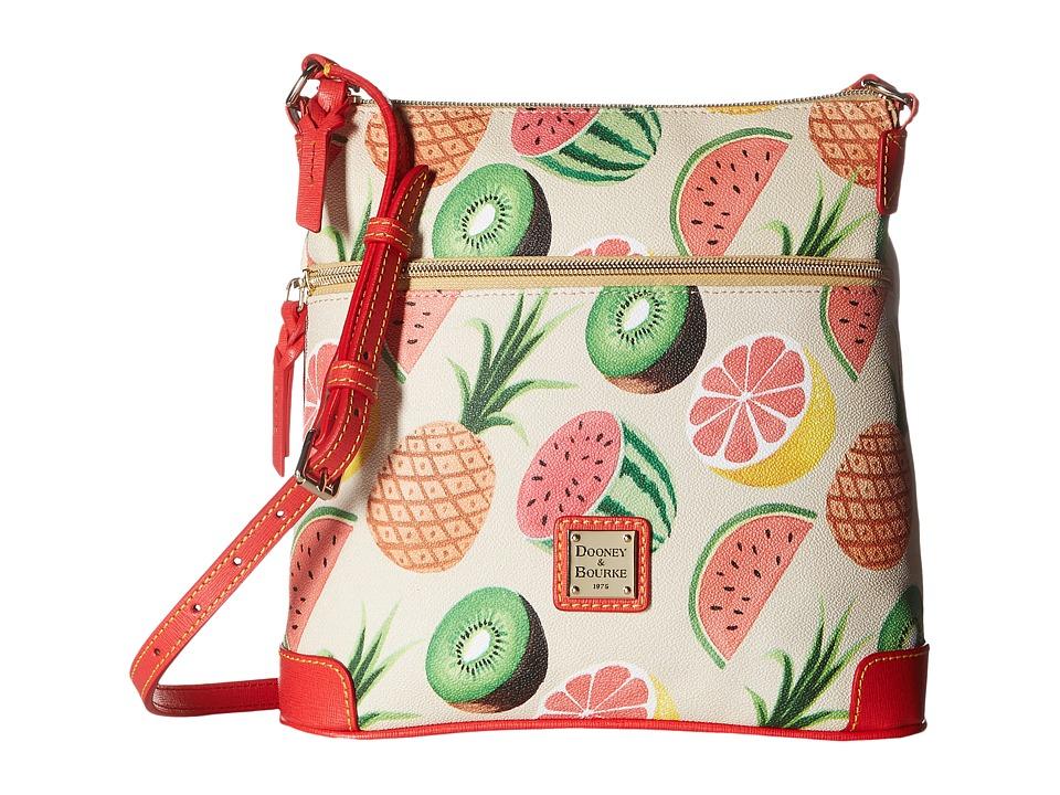 Dooney & Bourke - Ambrosia Crossbody (Beige w/ Tomato Trim) Cross Body Handbags