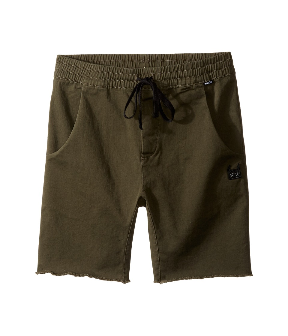 Munster Kids - Pitted Walkshorts (Toddler/Little Kids/Big Kids) (Olive) Boy's Shorts
