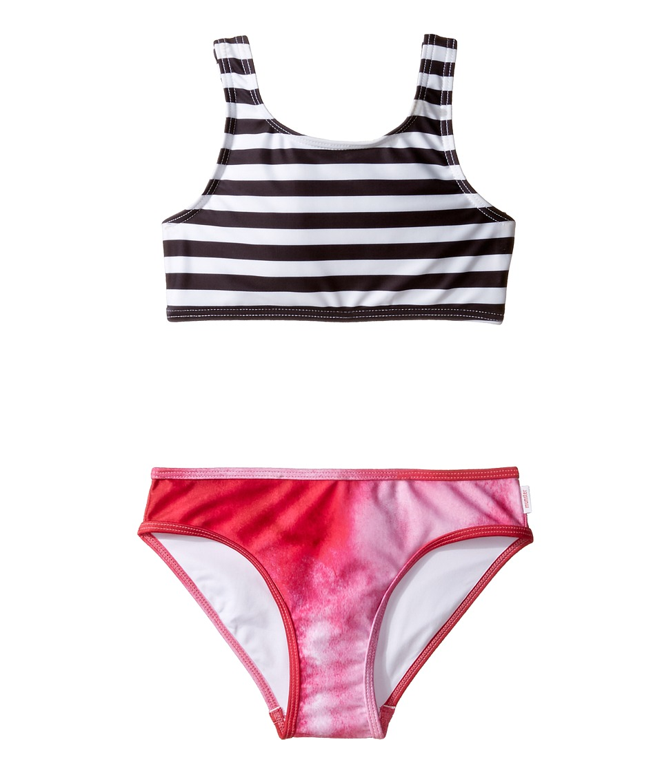 Munster Kids - Lulu Bikini (Toddler/Little Kids/Big Kids) (Black/Pink Swirl) Girl's Swimwear Sets