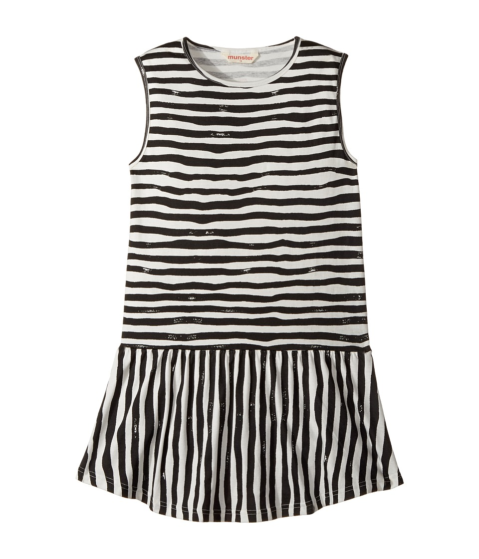 Munster Kids - Charlie Dress (Toddler/Little Kids/Big Kids) (Charcoal Stripe) Girl's Dress