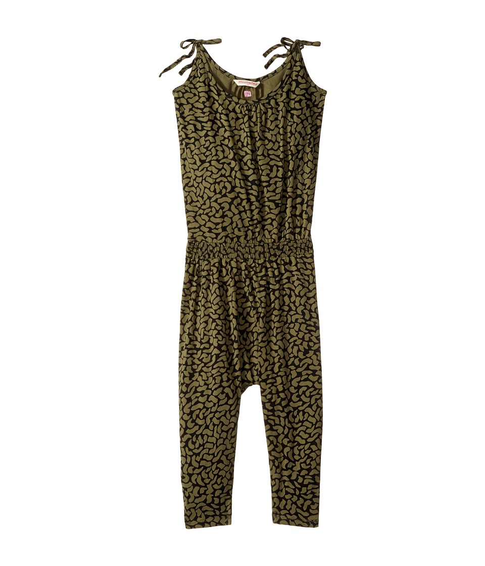 Munster Kids - Jungle Jumpsuit (Toddler/Little Kids/Big Kids) (Olive) Girl's Jumpsuit & Rompers One Piece