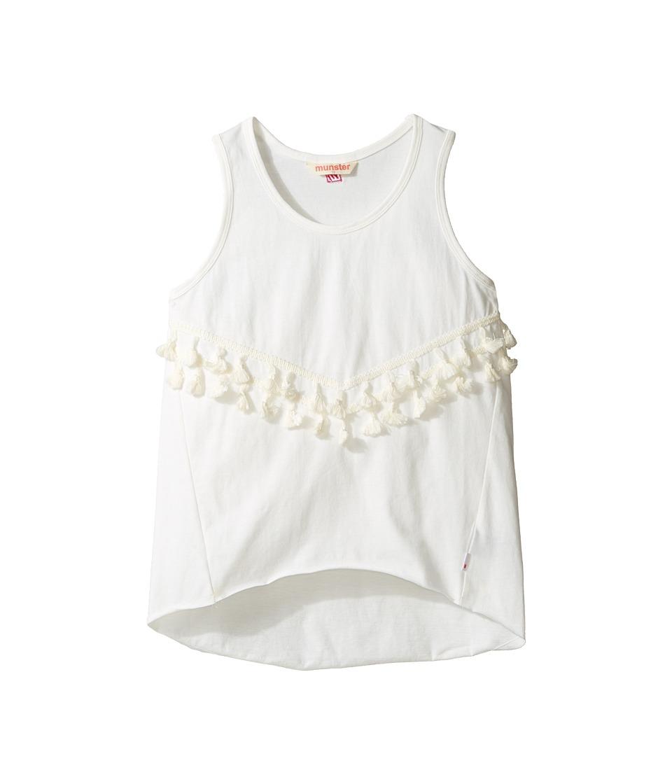Munster Kids - Tassel Tank Top (Toddler/Little Kids/Big Kids) (Cream) Girl's Sleeveless
