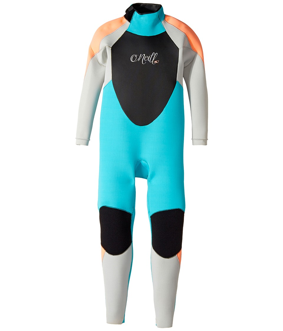O'Neill Kids - Epic 3/2 Wetsuit (Little Kids/Big Kids) (Lite Aqua/Lunar/Lite Grapefruit) Girl's Wetsuits One Piece