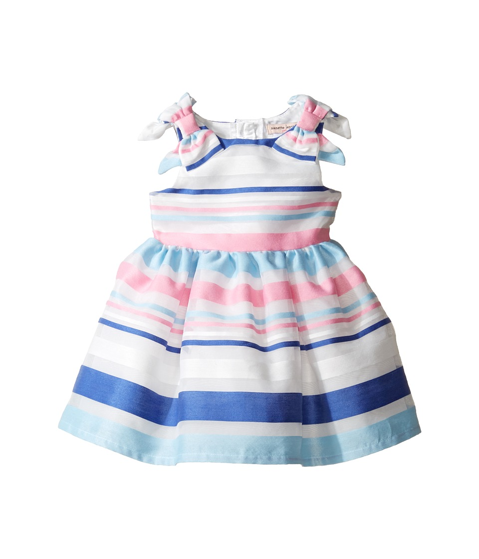 Nanette Lepore Kids - Stripe Organza Dress (Infant) (Blue) Girl's Dress