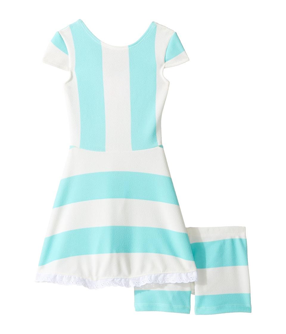 fiveloaves twofish - Lilo Playset Dress (Toddler/Little Kids/Big Kids) (Mint Stripe) Girl's Dress