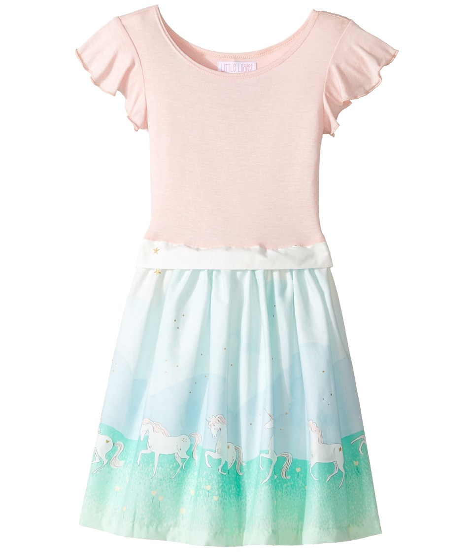 fiveloaves twofish - Unicorn Magic Little Abbie Dress (Toddler/Little Kids/Big Kids) (Mint) Girl's Dress