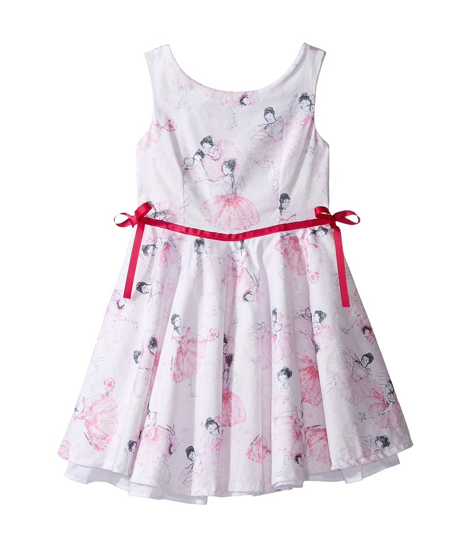 fiveloaves twofish - Degas' Ballerina Little Party Dress (Toddler/Little Kids/Big Kids) (Hot Pink) Girl's Dress