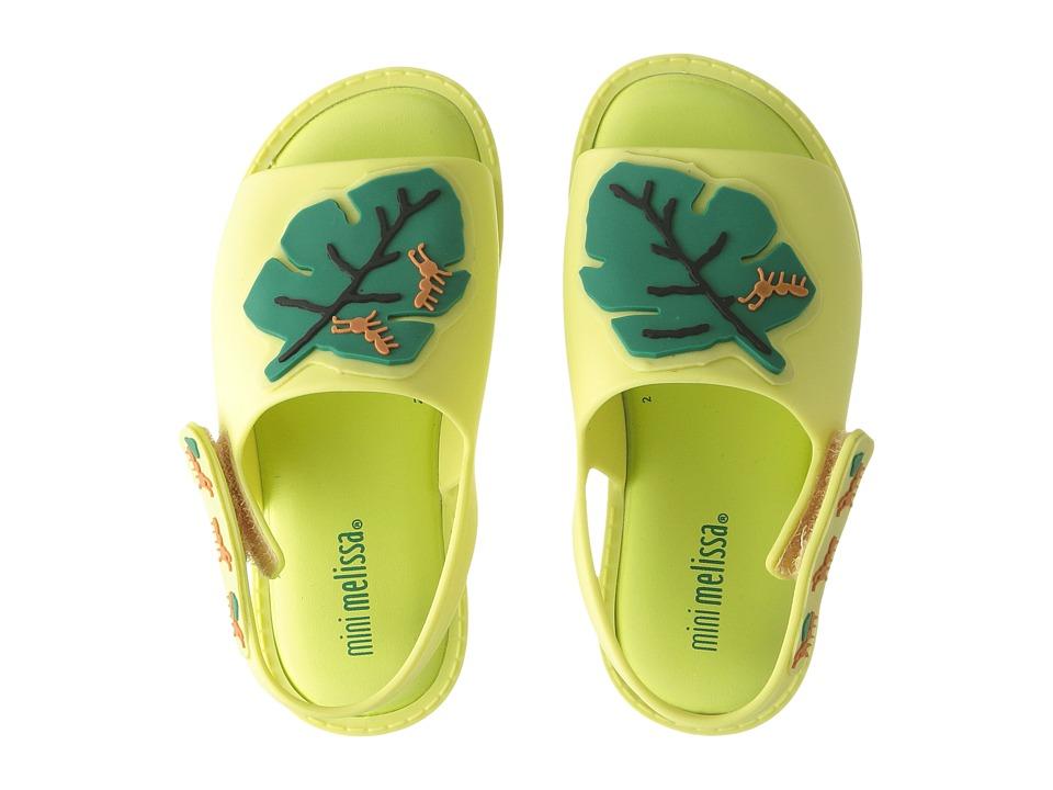 Mini Melissa - Mia + Fabula II (Toddler/Little Kid) (Green) Girl's Shoes