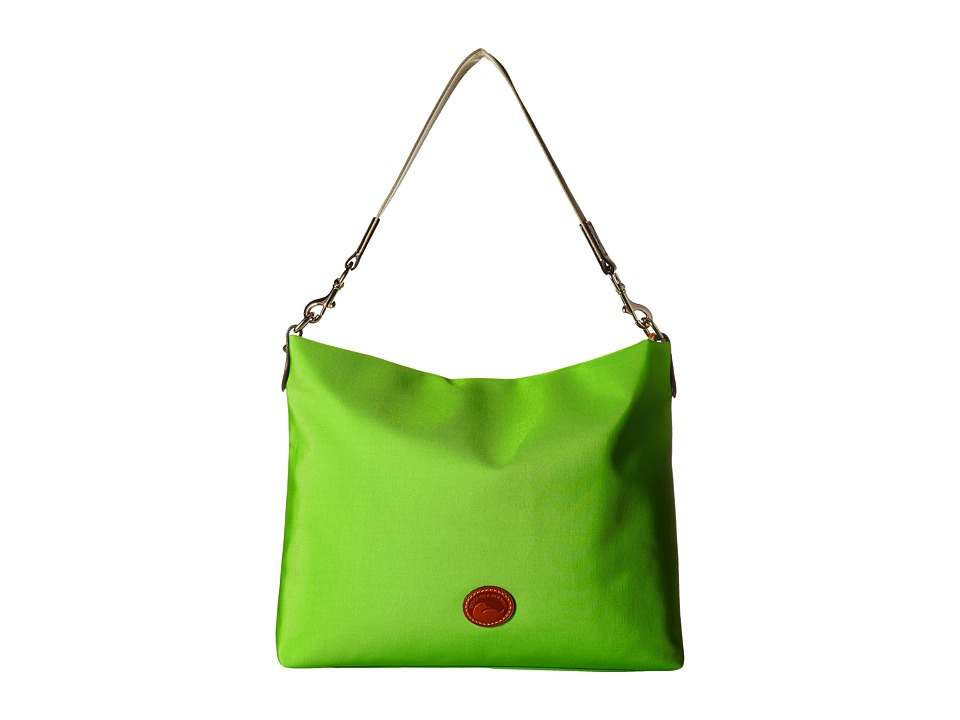 Dooney & Bourke - Nylon Extra Large Courtney Sac (Apple Green w/ Tan Trim) Handbags