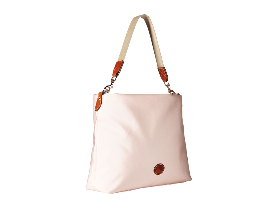Dooney & Bourke - Nylon Extra Large Courtney Sac (Blush w/ Tan Trim) Handbags