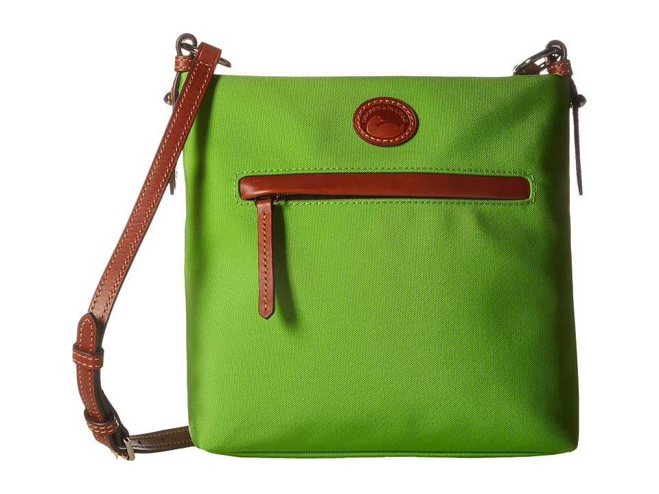 Dooney & Bourke - Nylon Daisy Letter Carrier (Apple Green w/ Tan Trim) Handbags