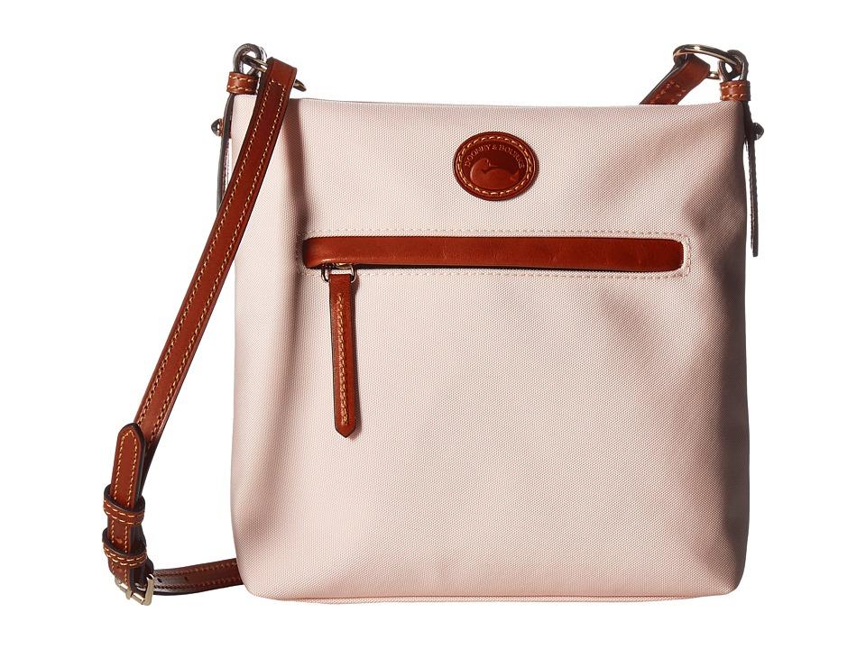 Dooney & Bourke - Nylon Daisy Letter Carrier (Blush w/ Tan Trim) Handbags