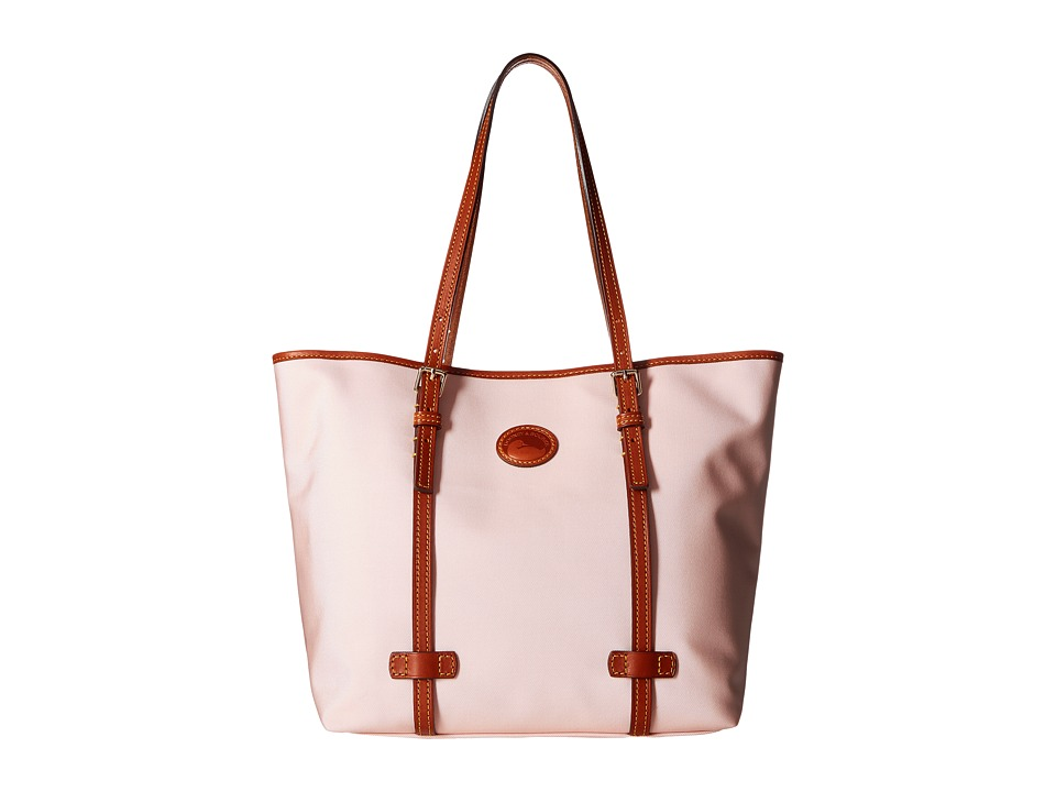 Dooney & Bourke - Nylon East/West Shopper (Blush w/ Tan Trim) Handbags