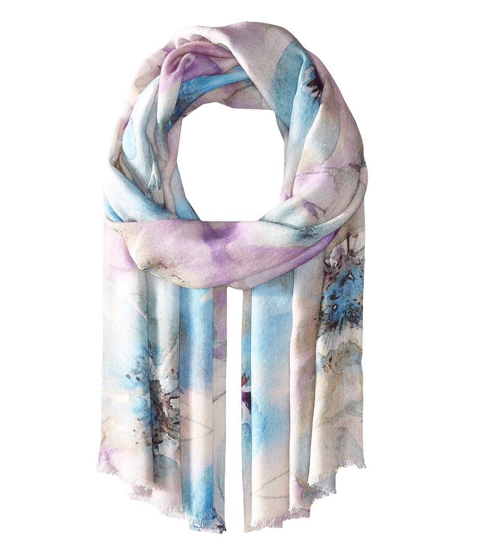 Bindya - Stole Water Color Floral Scarf (Blue) Scarves