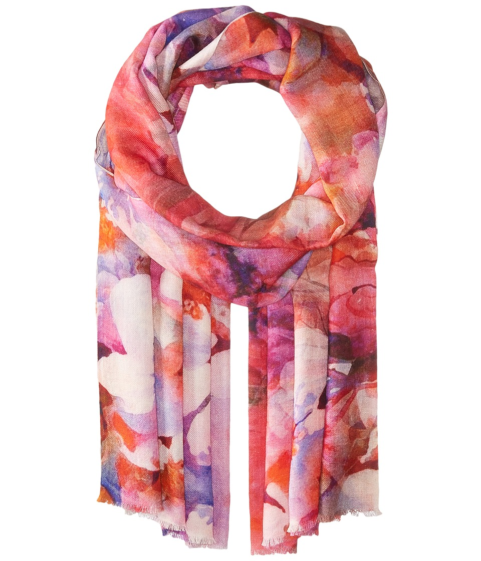 Bindya - Stole Water Color Floral Scarf (Pink) Scarves