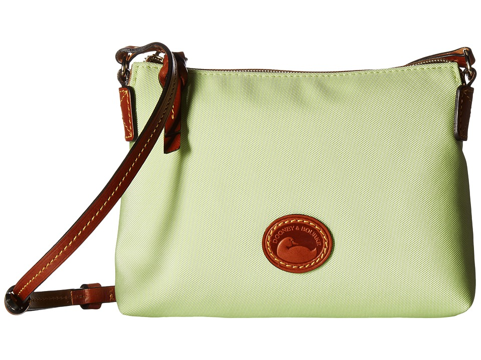 Dooney & Bourke - IN Nylon New SLGS Styles Crossbody Pouchette (Key Lime w/ Tan Trim) Cross Body Handbags