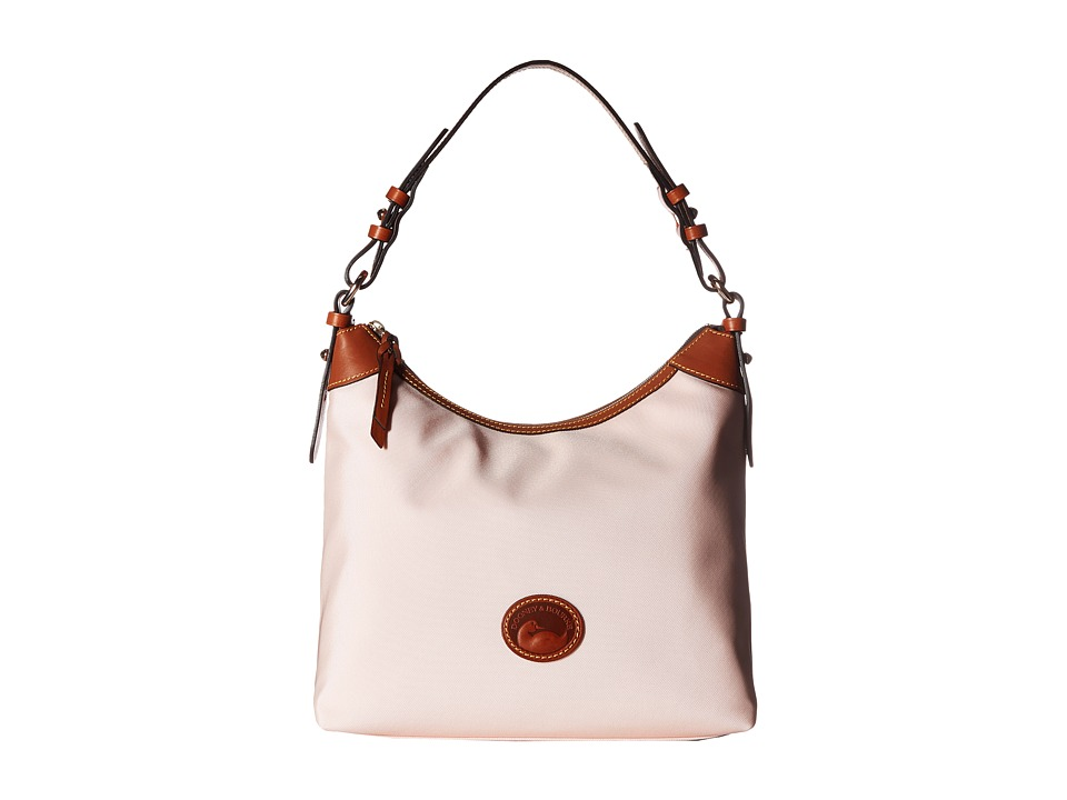 Dooney & Bourke - Nylon Large Erica (Blush w/ Tan Trim) Hobo Handbags