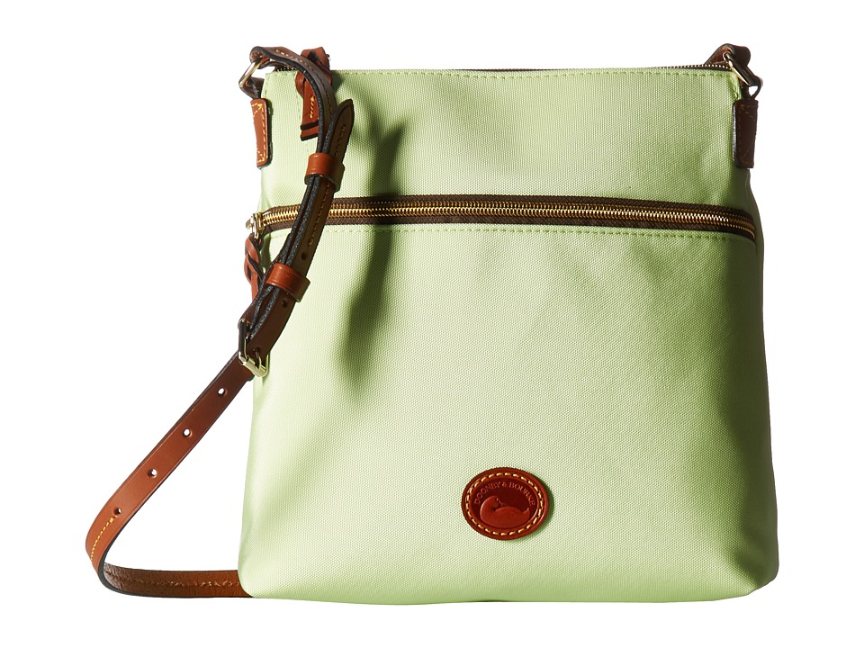 Dooney & Bourke - Nylon Crossbody (Key Lime w/ Tan Trim) Cross Body Handbags