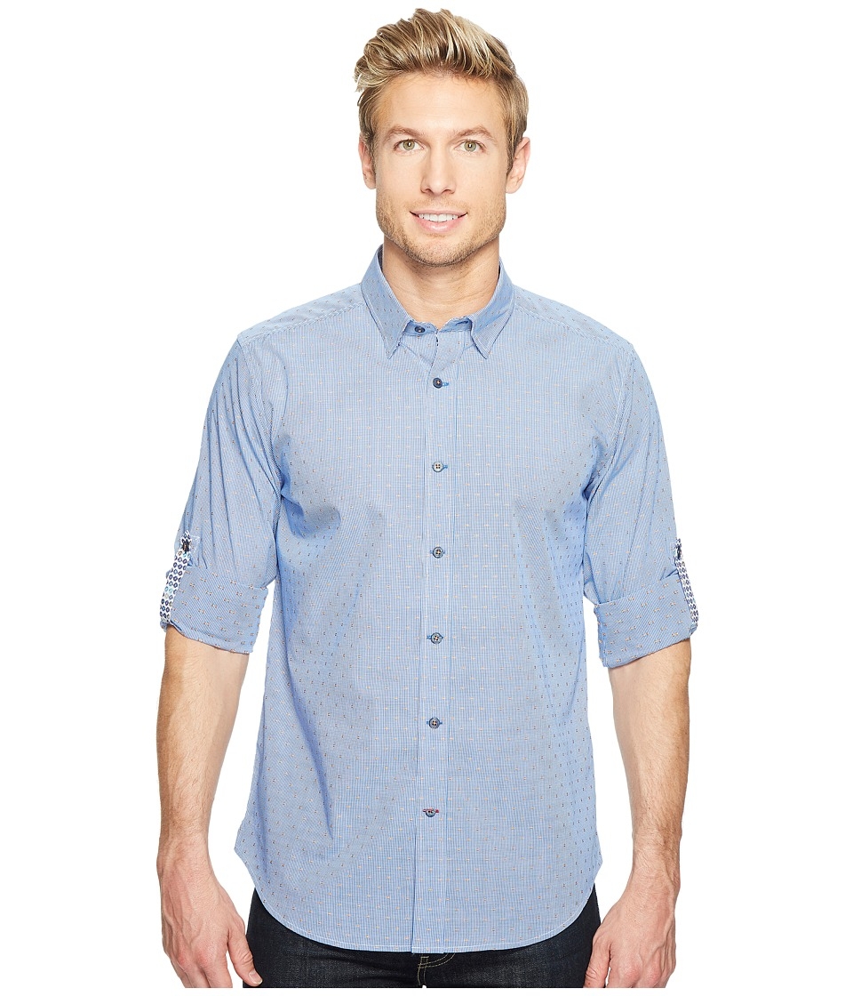 Robert Graham - Modern Americana Carlos Long Sleeve Woven Shirt (Navy) Men's T Shirt