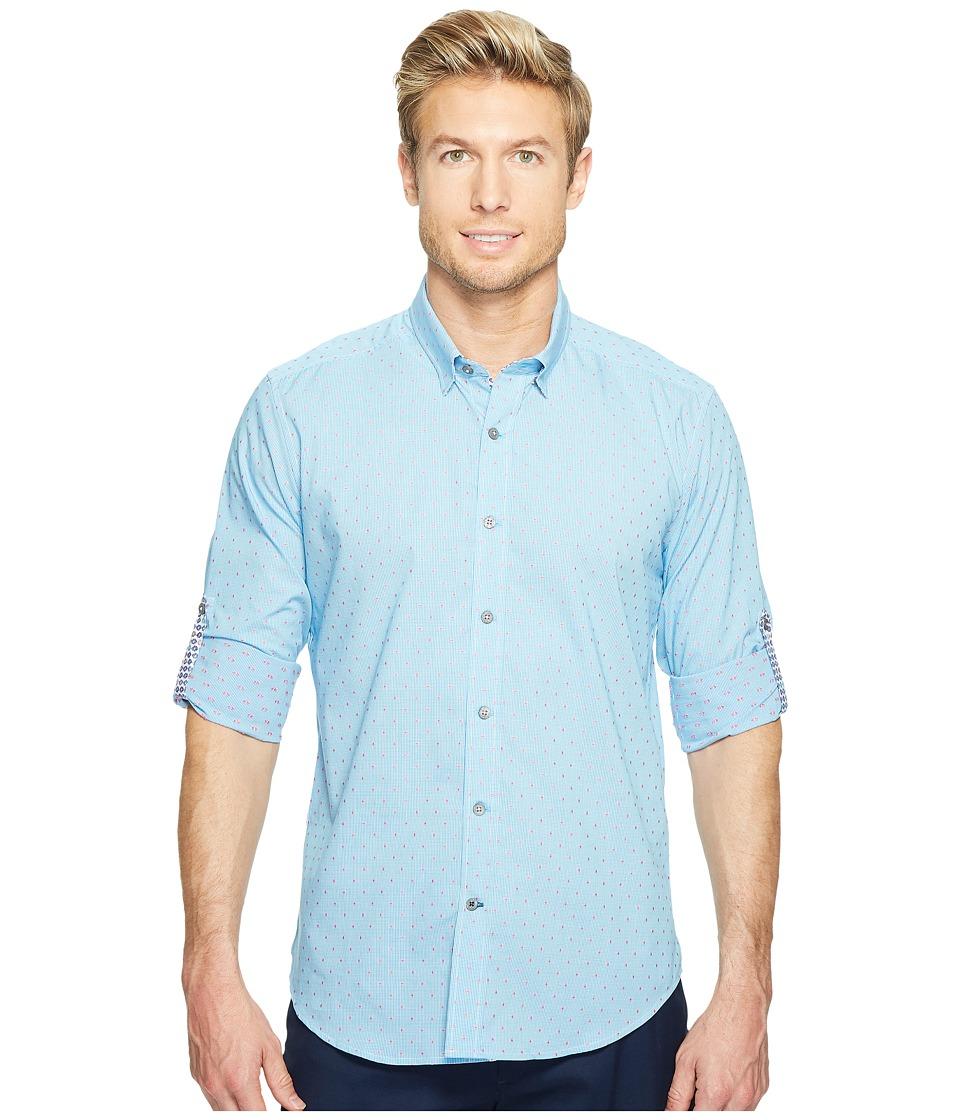 Robert Graham - Modern Americana Carlos Long Sleeve Woven Shirt (Teal) Men's T Shirt