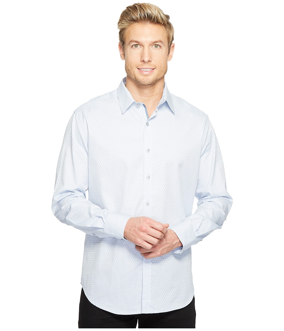 Robert Graham - Steinbeck Long Sleeve Woven Shirt (Blue) Men's T Shirt