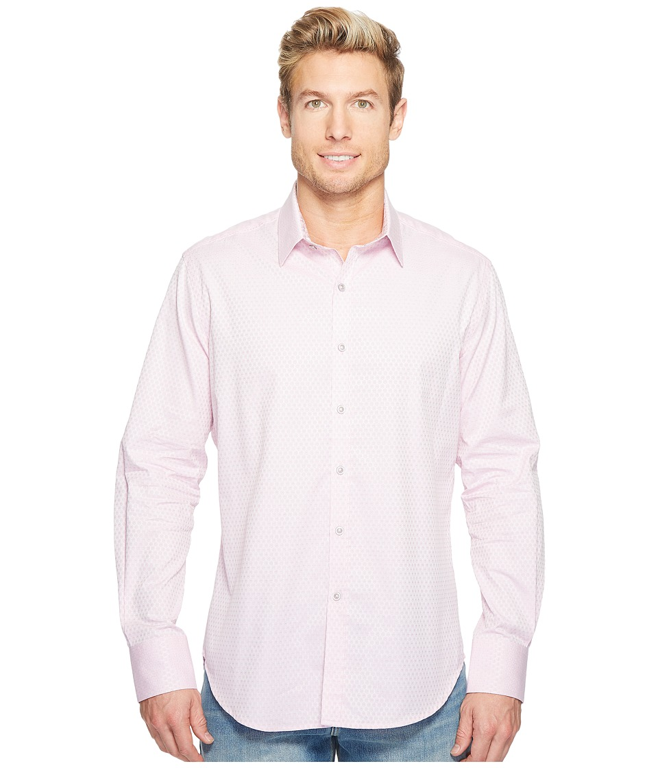 Robert Graham - Steinbeck Long Sleeve Woven Shirt (Pink) Men's T Shirt