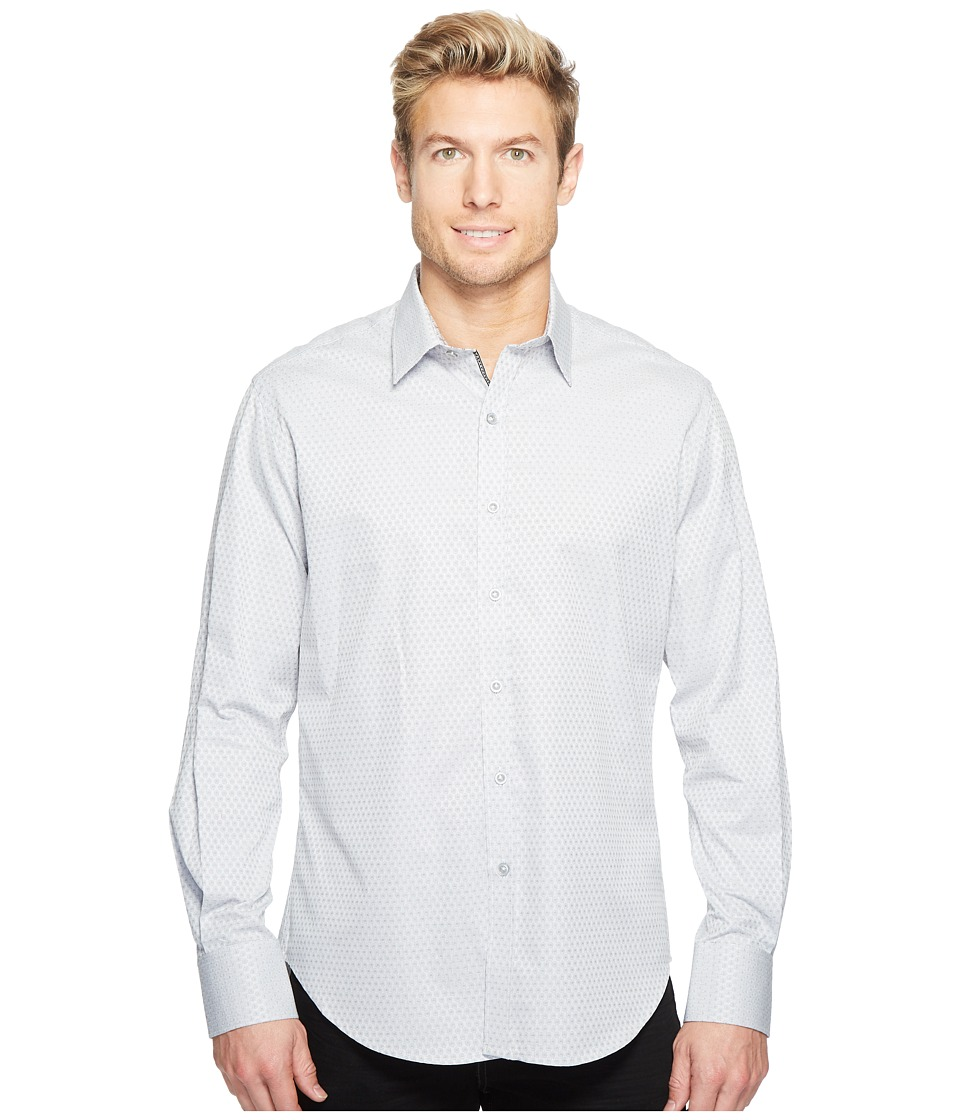 Robert Graham - Steinbeck Long Sleeve Woven Shirt (Grey) Men's T Shirt