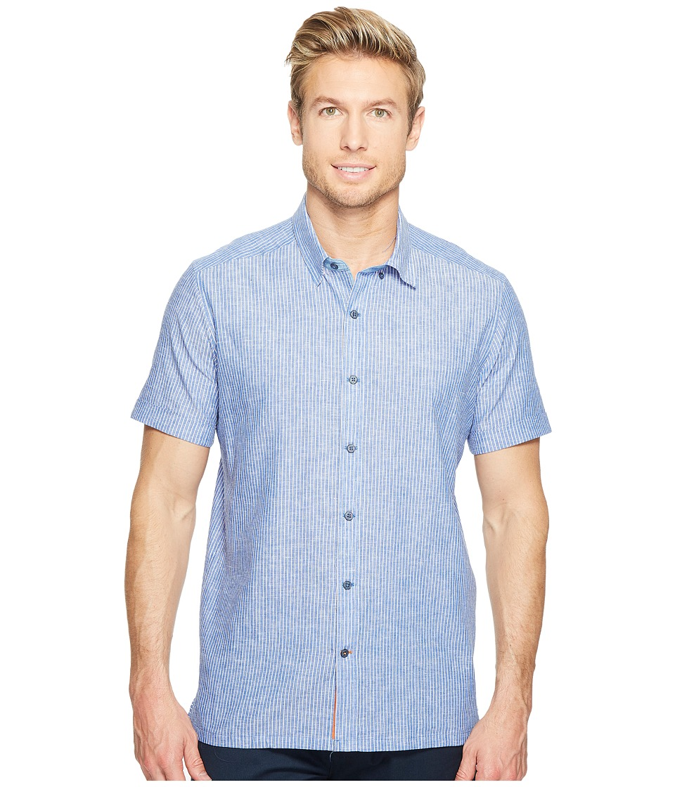Robert Graham - Modern Americana Oakley Short Sleeve Woven Shirt (Blue) Men's T Shirt