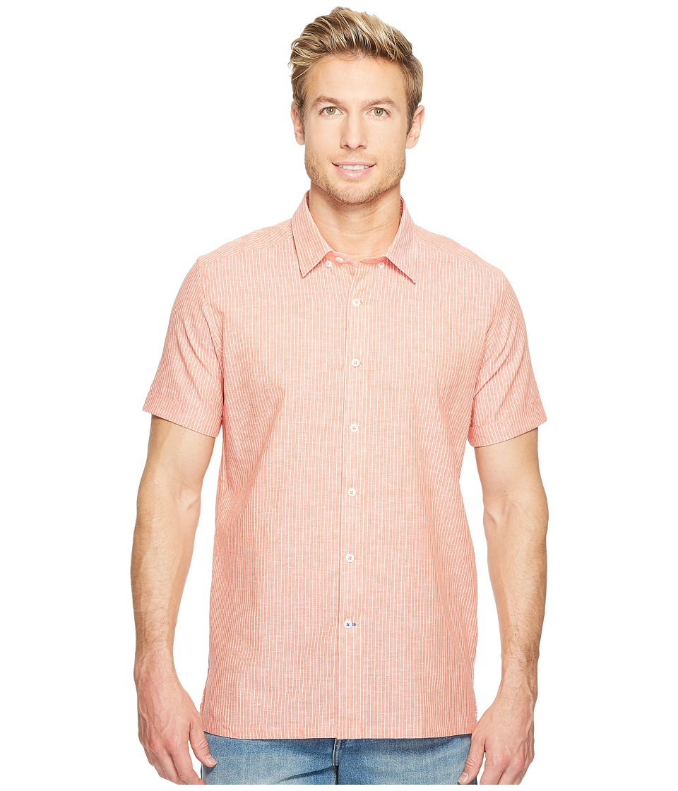 Robert Graham - Modern Americana Oakley Short Sleeve Woven Shirt (Orange) Men's T Shirt
