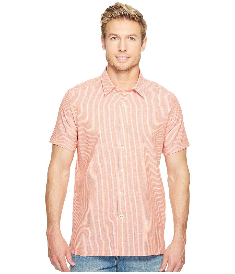 Robert Graham - Modern Americana Oakley Short Sleeve Woven Shirt (Orange) Men's T Shirt