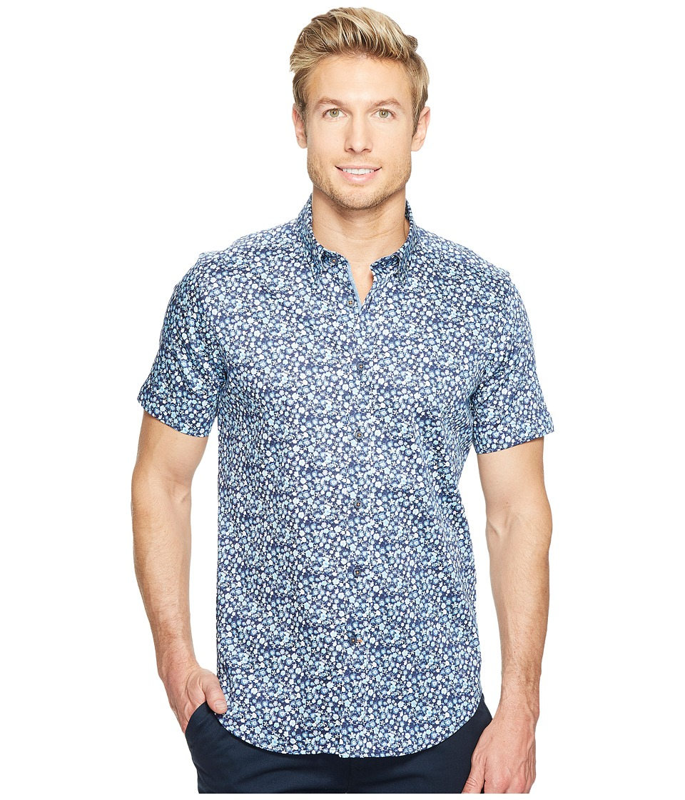 Robert Graham - Modern Americana Bronson Short Sleeve Woven Shirt (Blue) Men's T Shirt