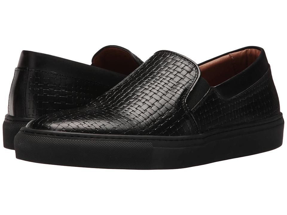 Aquatalia - Anderson (Black Embossed Soft Full Grain) Men's Slip on Shoes