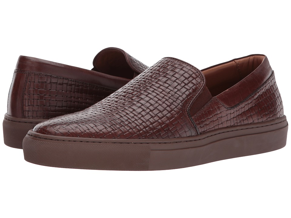 Aquatalia - Anderson (Medium Brown Embossed Soft Full Grain) Men's Slip on Shoes