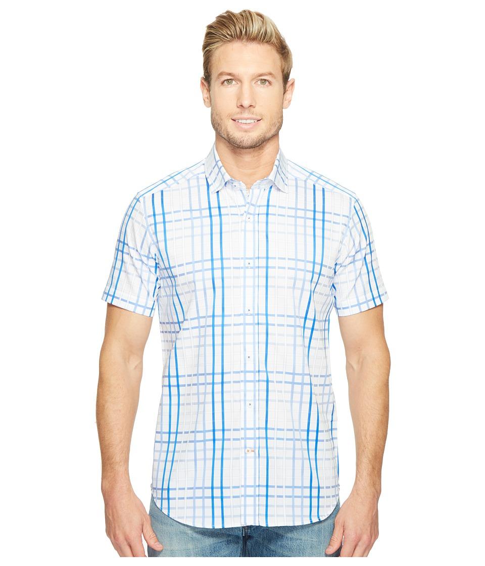 Robert Graham - Modern Americana Dax Short Sleeve Woven Shirt (Blue) Men's T Shirt