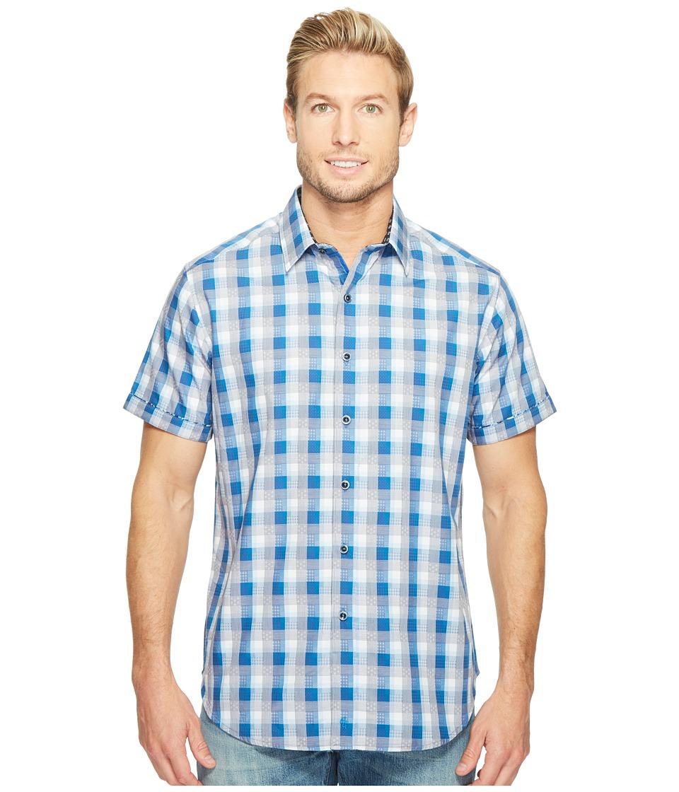 Robert Graham - Greenfield Short Sleeve Woven Shirt (Navy) Men's T Shirt