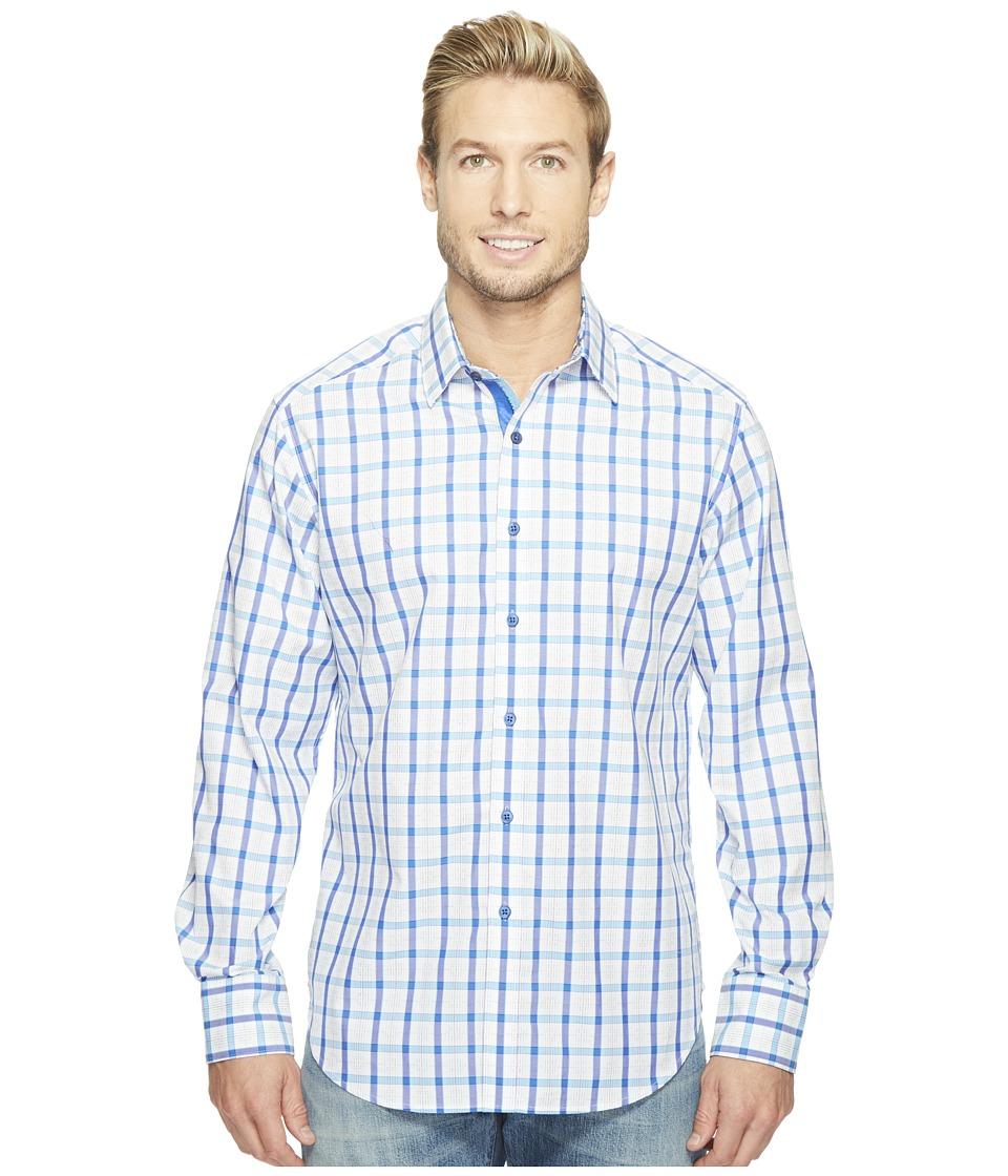Robert Graham - Hollister Long Sleeve Woven Shirt (Blue) Men's T Shirt