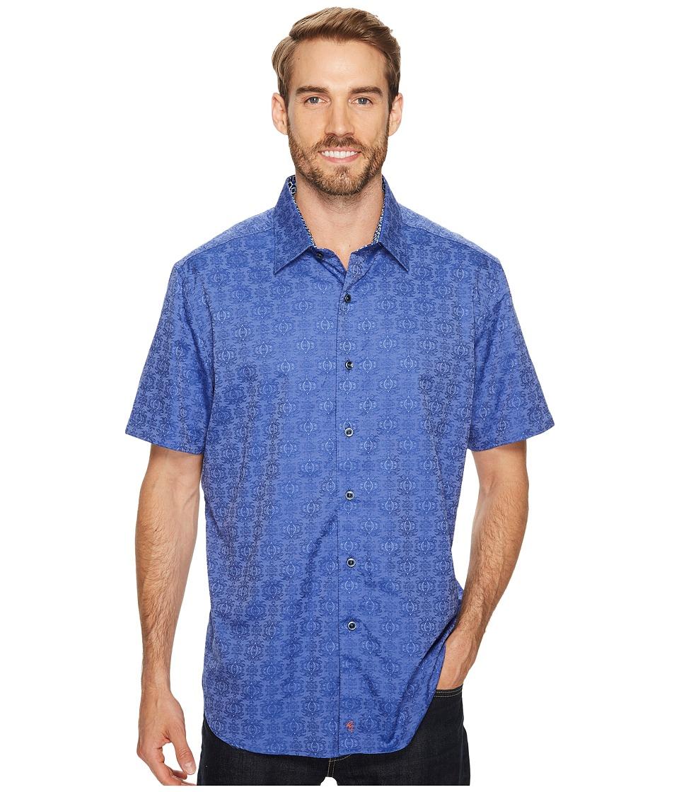 Robert Graham - Cullen Short Sleeve Woven Shirt (Sapphire) Men's T Shirt
